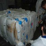 контрольный замер брикета из бигбэгов представителем заказчика пресса