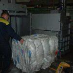 Вес брикета из бигбэгов сформированного на прессе ТМ-14Т-М составил 243 кг.