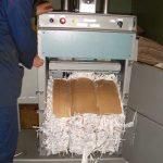 Пресс ТМ-6Т-м. Брикет из отходов полиграфического производства.