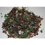 Переработанный материал - фракция пластика 18 - 200 мм.